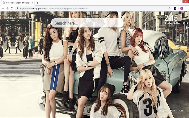 Snsd Kpop wallpapers cool new tab