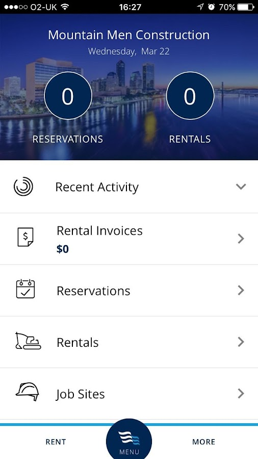 BlueLine Rental App- screenshot