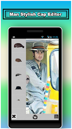 Men Stylish Caps Editor APK screenshot thumbnail 1