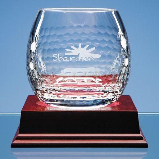 Optical Crystal Golfball on Green Base