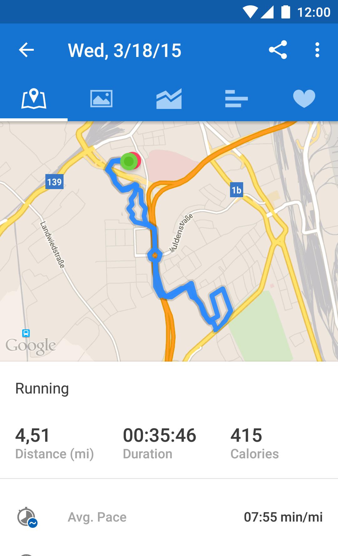 Runtastic Running & Fitness screenshot #4