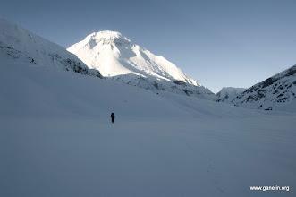 Photo: Подход к истинному перевалу French Pass. Вид назад на Dhaulagiri I.