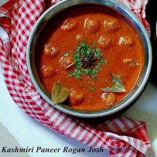 Paneer Rogan Josh- Kashmiri cuisine.