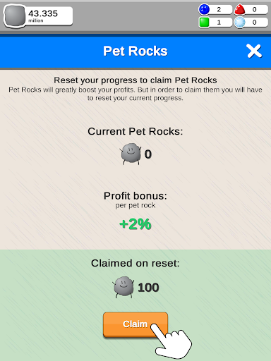Rock Collector - Idle Clicker Game 2.0.3 screenshots 12
