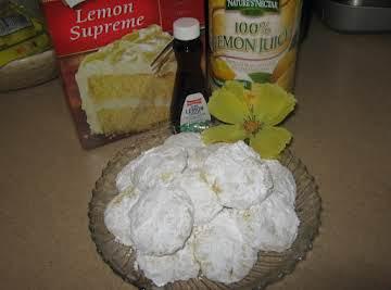 Sunshine Lemon Cake Mix Cookies
