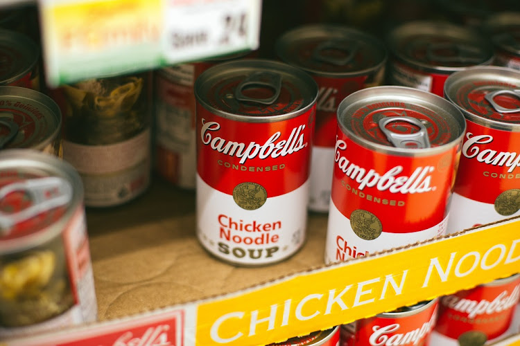 Cans of Campbell Soup at a grocery store in Phoenix, Arizona, the US. Picture: REUTERS