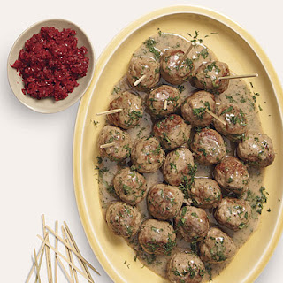 Swedish Meatballs with Cranberry Relish