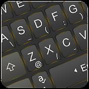 Simple Neon Gold Keyboard Theme