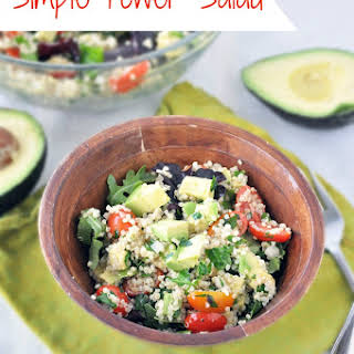 Quinoa Salad with Avocado and Tomatoes.