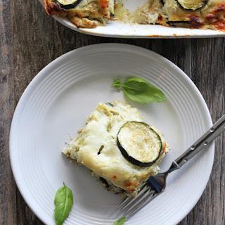 Eggplant Zucchini Lasagna.