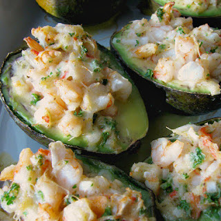 Baked Seafood Stuffed Avocados Recipe