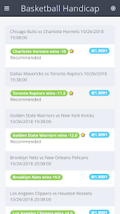 BasketBall Handicaps Screenshot