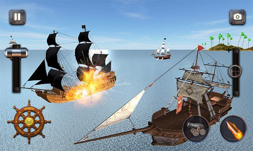 Caribbean Sea Outlaw Pirate Ship Battle 3D android2mod screenshots 2