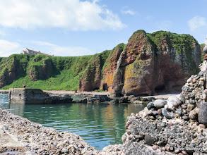 Photo: Castle Rock, Auchmithie Harbour
