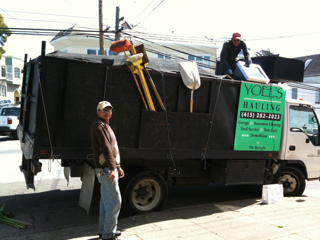Photo: Finally, the heroes who did the work. And yes, we filled the ENTIRE truck!