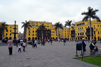 Photo: Plaza de Armas, Lima - Right next to the Presidents house