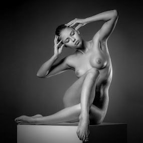 The Cube Poject by Andrey Stanko - Nudes & Boudoir Artistic Nude ( studio, b&w, nude, andrey stanko )