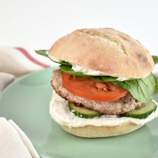 Greek Turkey Burger.