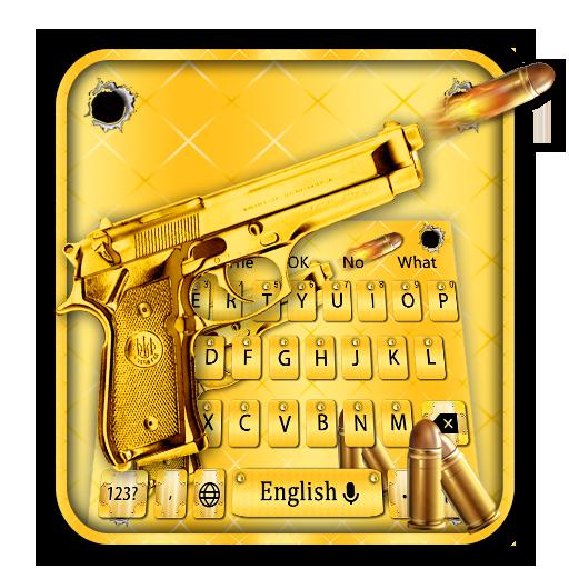 Gold Pistol Metal Keyboard