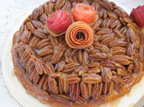 Upside Down Apple Pecan Pie Easy easy and absolutely delish. My new...