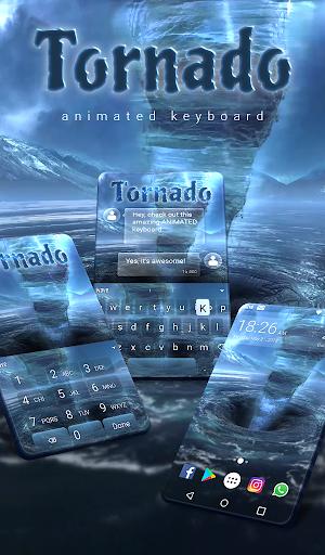 Tornado Animated Keyboard Live Wallpaper