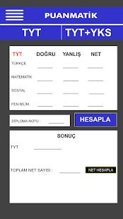 YKS TYT Puan Hesaplama 2018 - náhled