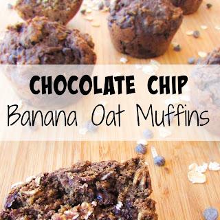 Whole Wheat Chocolate Chip Banana Muffins