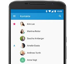Google Kontakte screenshot