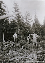 Photo: Berggruvan-stolpresning 1916