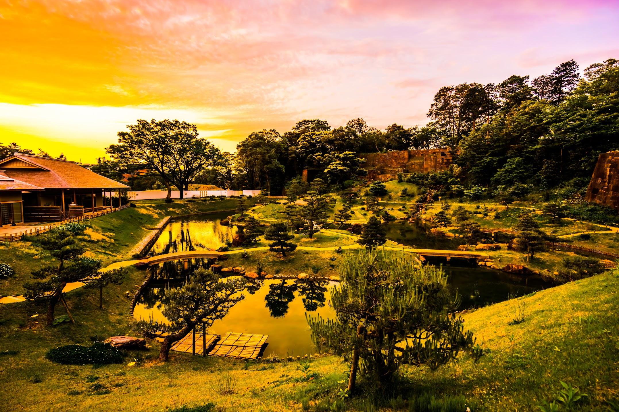 玉泉院丸庭園 夕景1