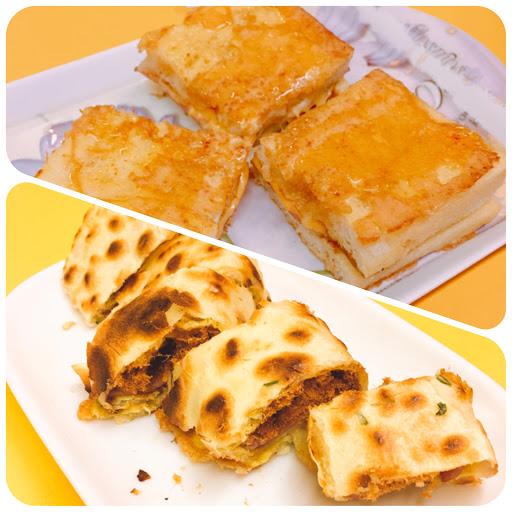 蛋餅好吃~ 法式吐司加蜂蜜沒有很合