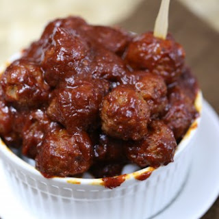 Crock Pot Chipotle Honey Meatballs