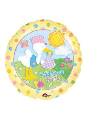 Folieballong, baby stork