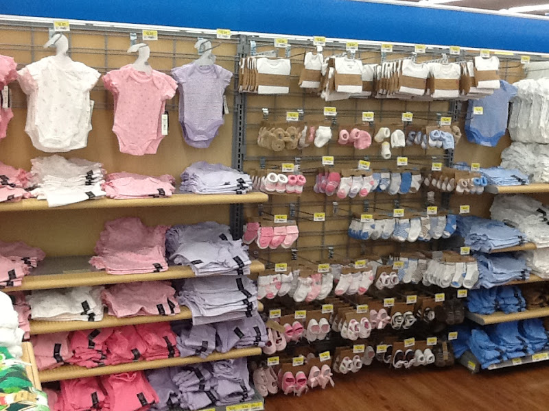 Photo: Look at all the tiny infant stuff, arranged all monochromatically...