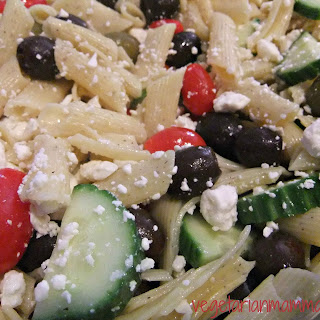 Greek Pasta Salad – #glutenfree