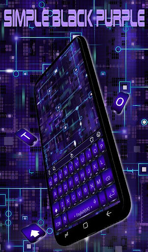 Download Simple Black Purple Keyboard Theme MOD APK 4