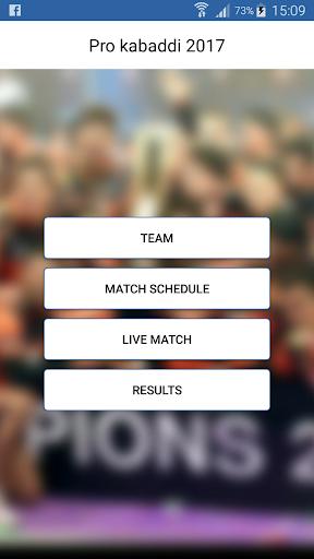 Pro Kabaddi 2017 Live Score & Schedule  screenshots 1