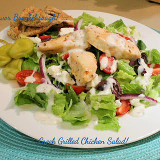 Greek Grilled Chicken Salad! Recipe