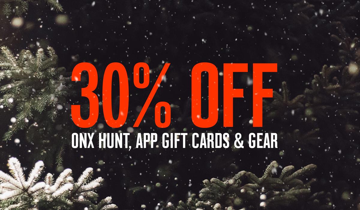 onX Hunt Holiday Sale