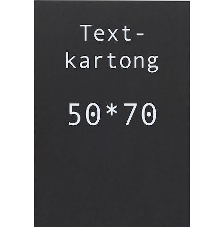 Kartong 50x70cm svart    10/fp