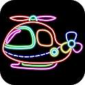 Magical Drawing Glow icon