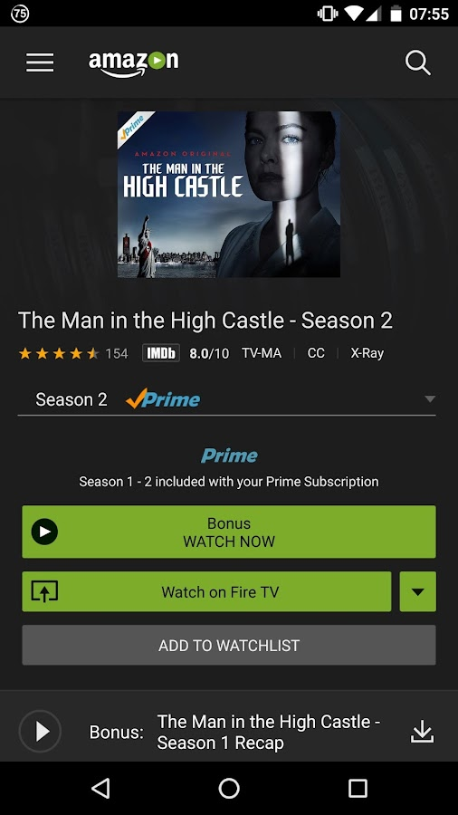 Amazon Prime Video- screenshot