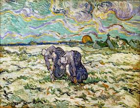 """Photo: Vincent Van Gogh, """"Due contadine che zappano in mezzo alla neve"""" (1890)"""
