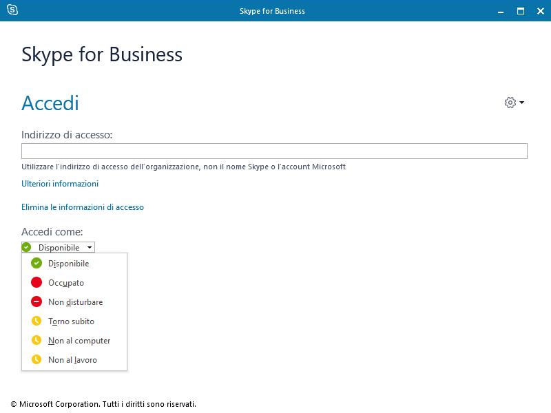 Skype For Business Presence Status