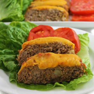 Low Calorie Cheeseburger Meatloaf