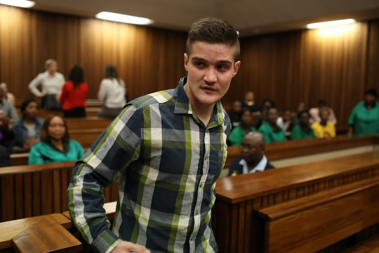 Nicholas Ninow at the Pretoria High Court, September 10 2019, a day after admitting he raped a child aged seven, a year ago at a Dros restaurant.