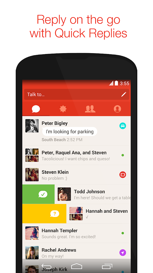 Screenshots of Path Talk for iPhone