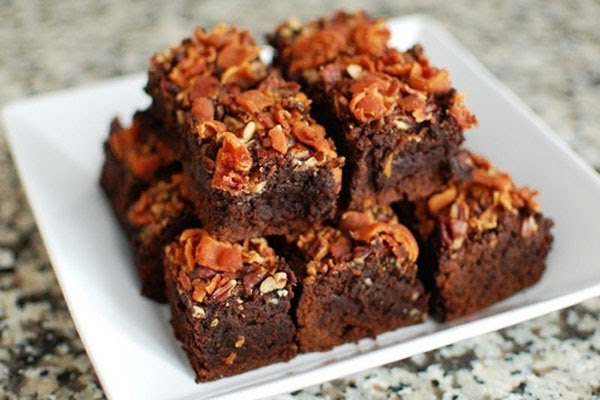 Brownie de Bacon