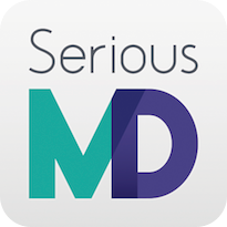 SeriousMD logo vertical rounded edge