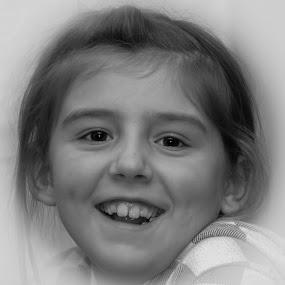 Nathalie Høynes by Benny Høynes - People Portraits of Women ( child, pwcfaces, bw, bennyhoynes, women )